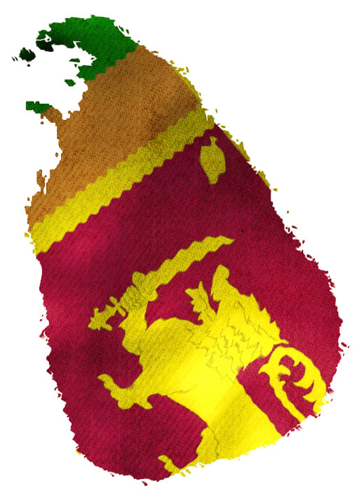 Sri Lanka with Flag